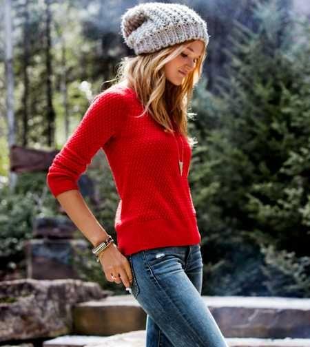 AEO Zip Back Textured Sweater