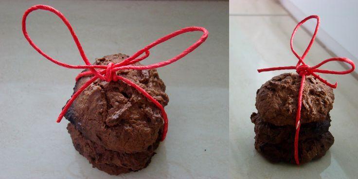 Ciasteczka owsiane z bananem i nutką czekolady.