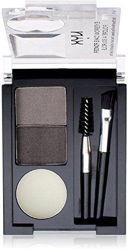 NYX Eyebrow Cake Powder, Black/Grey [ECP01] oz (Pack of 11) 0.09