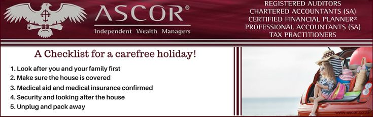 Ascor® Independent Wealth Managers post A checklist for a carefree holiday