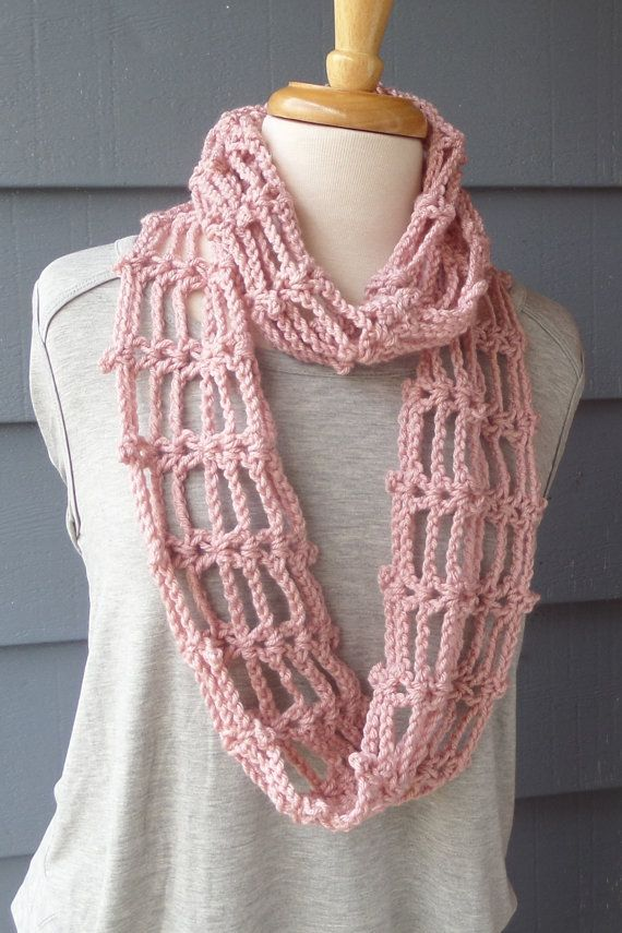 Summer Scarf Spring Infinity Scarf Lacey Scarf by ArtsyCrochet