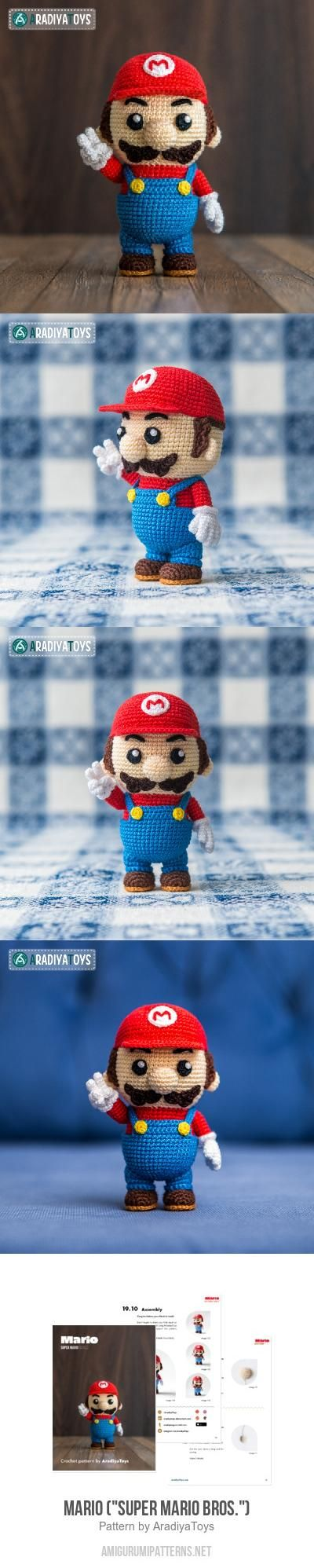 "Mario (""Super Mario Bros."") Amigurumi Pattern                                                                                                                                                                                 More"