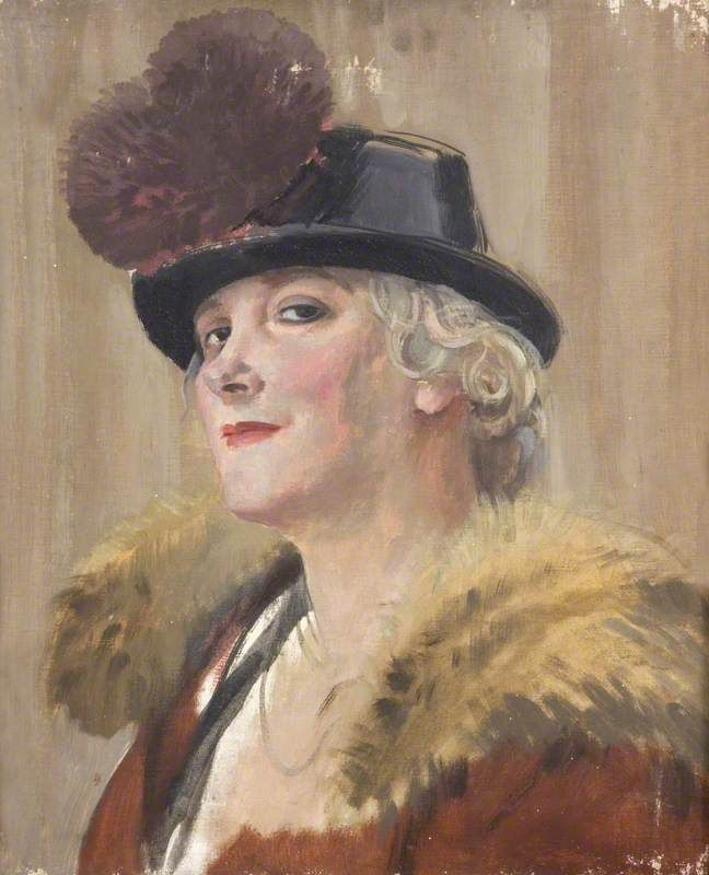 Augustus Edwin John - Portrait of a Woman (1920)
