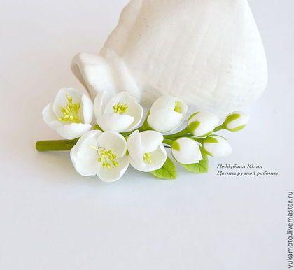 jasmine flowers polymer clay