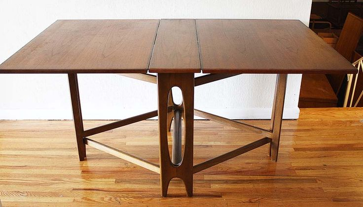 Folding Dining Table For Your Small Dining Room : Wooden Floor White Wall  Simplye Style Folding Dining Table Ideas