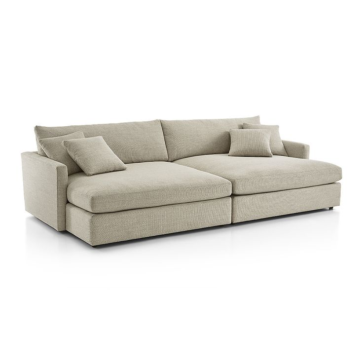 Shop Lounge II 2-Piece Double Chaise Sectional Sofa. Upholstered in a soft, high-performance fabric that can stand up to almost anything, the sectional provides maximum sitting space. The.
