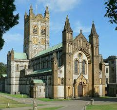 Buckfast Abbey ~ Buckfastleigh, Devon, England.  You can join in with the monks in their daily worship.  Also beautiful contemporary  stained glass.