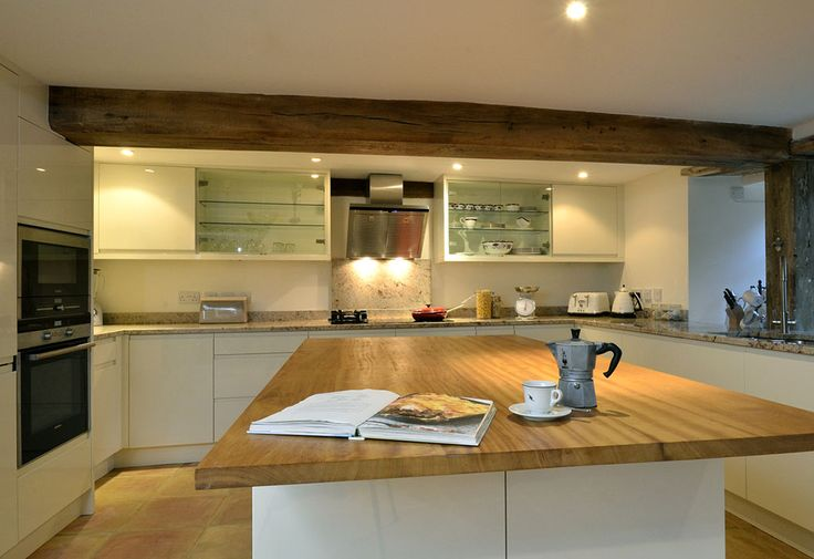 White High Gloss Handleless Kitchen (2)