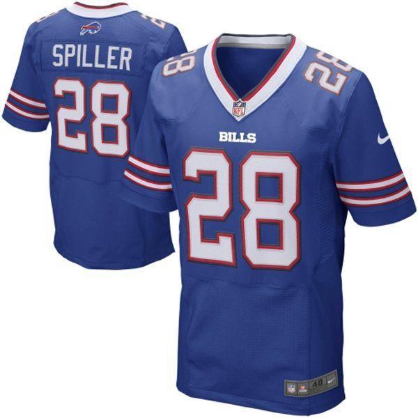 Buffalo Bills 28 Spiller Blue Elite NFL Jerseys