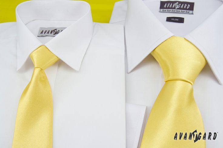Žlutá inspirace nejen na svatbu / Yellow (wedding) inspiration  Žlutá chlapecká a pánská kravata / Yellow boys and men's tie