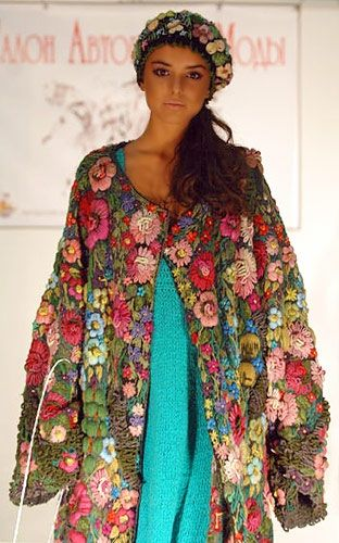 embroidery by Nadezhda Volkova - goodness, what a gorgeous coat - such beautiful work (and the headband too)