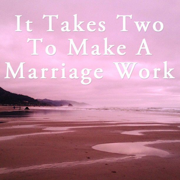 "Q: ""My spouse is not willing to work on our marriage.  Doesn't it take two to fix a marriage?"" Dr. E says: Yes, it takes two…but it may not be the two you are thinking of. The common belief is that it takes both spouses to be fully committed to make a marriage work. Technically […] marriage, marriage tips #marriage"