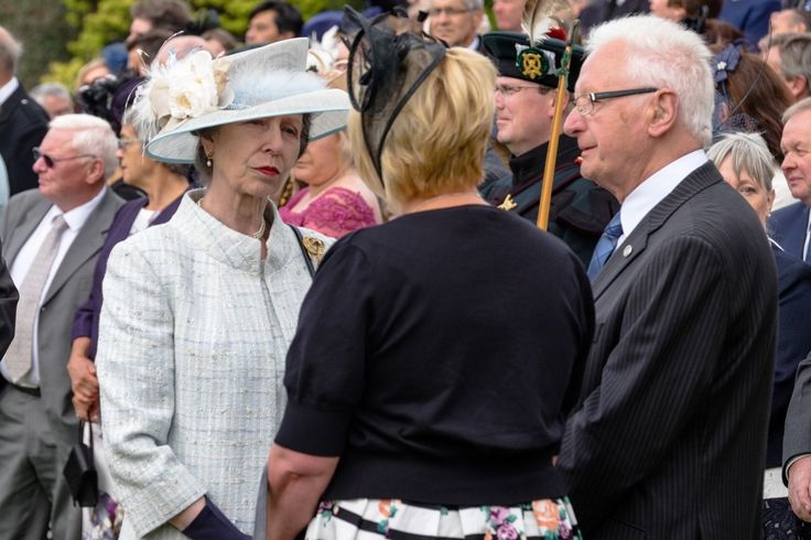 The Princess Royal meets guests at today's Garden Party in Edinburgh 5 July 2016