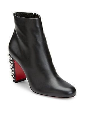 86443590b82 Christian Louboutin Suzi Folk 85 Studded Leather Booties