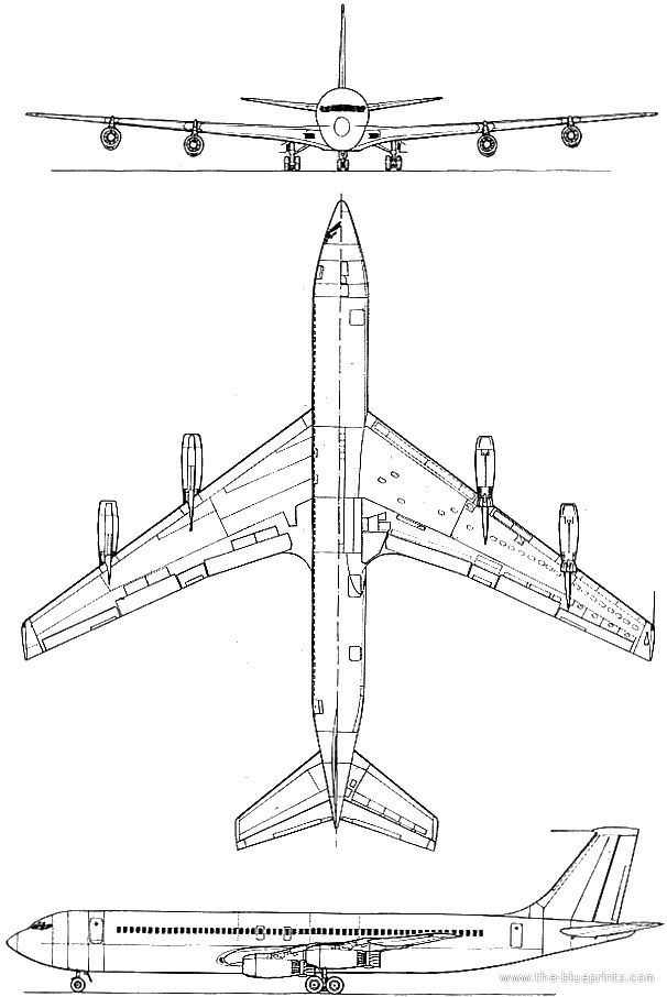 Boeing 707 Templates Views