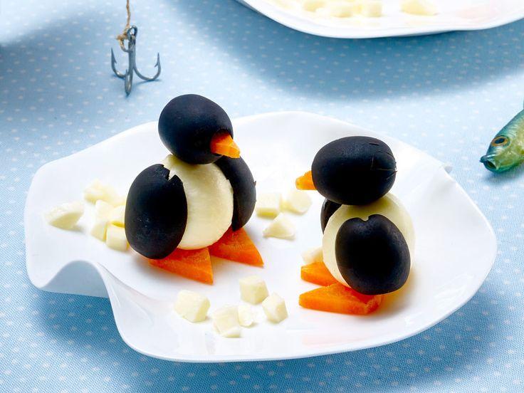 Käse-Oliven-Pinguine