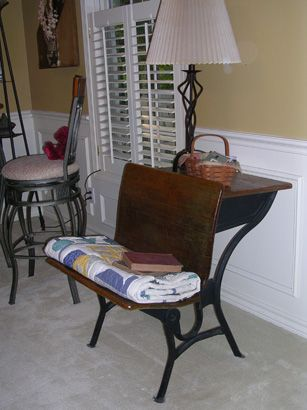 Julie needs to do this with mom's old school desk