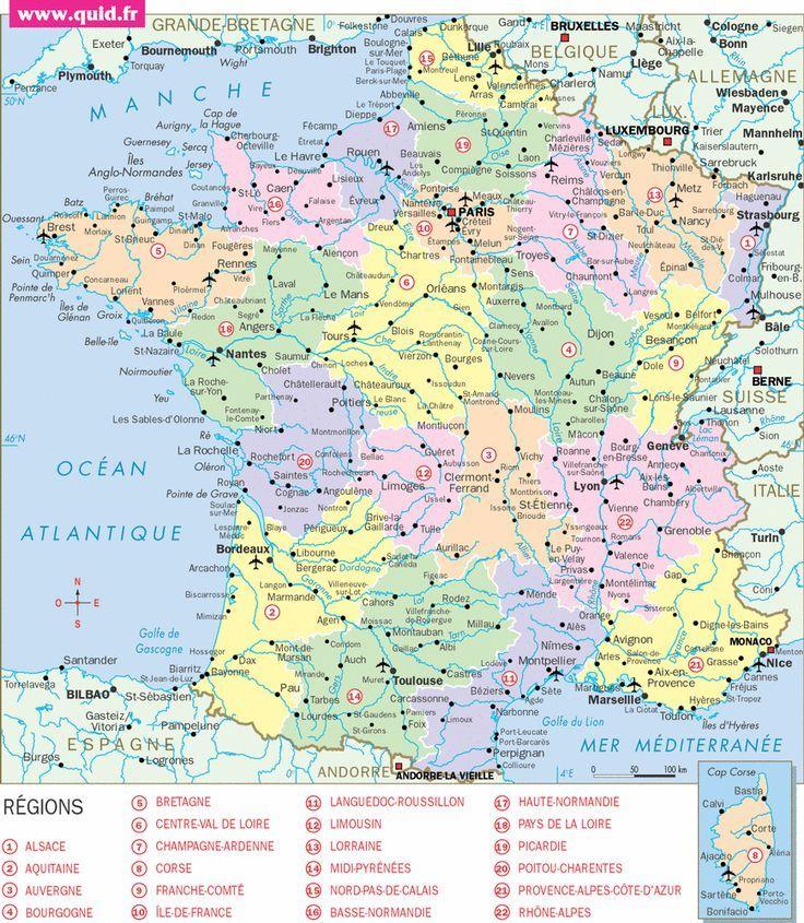 Travel And Trip Infographic Carte France Infographic Description