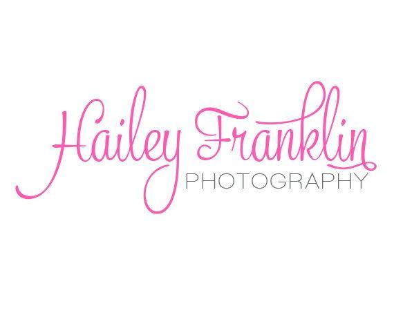 Script photography Logo Design - Custom Premade logo design - Simple Photography logo - Fancy Script. $10.00, via Etsy.