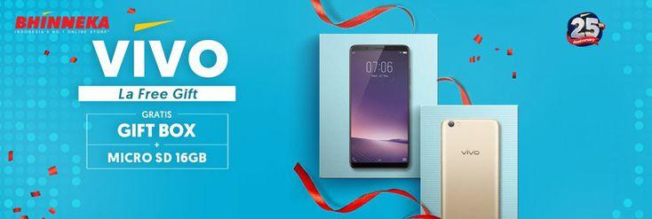 Beli Hp Vivo Banyak Gratisannya di Bhinneka! Gratis Box + Micro SD 16GB - PriceArea.com
