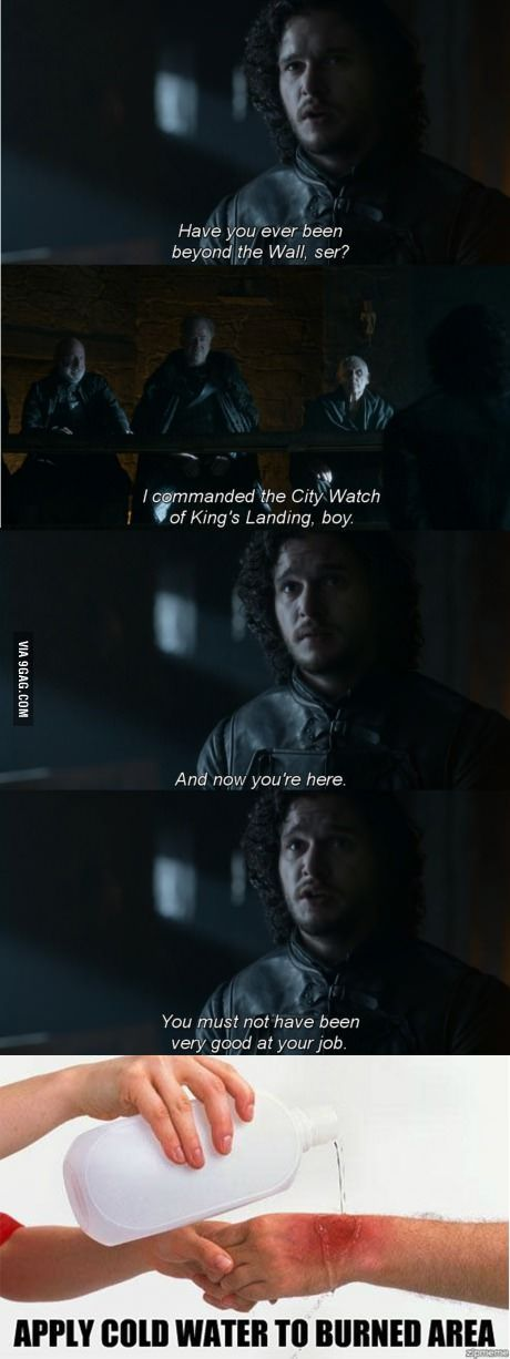Jon Snow does know something... BUUUURN!!!