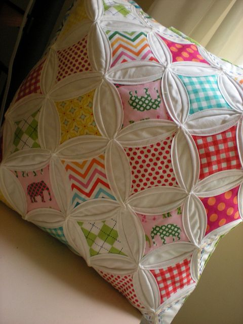 Cathedral Window Pillow by Mary @ Molly Flanders, via Flickr