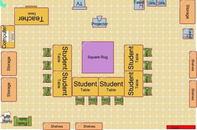 Create A Preschool Classroom Floor Plan: Art Classroom Portfolio Storage