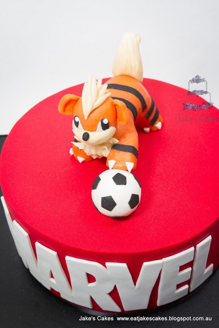 Pokemon soccer cake google search kid cakes pinterest soccer cake pok mon and soccer - Decoration gateau pokemon ...