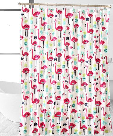 Affluence Home Fashions Fancy Flamingo Shower Curtain