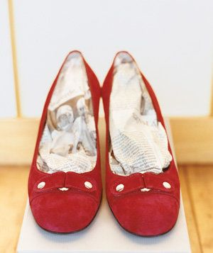 Newspaper as Shoe Deodorizer | Surprising uses for earrings, brooches, and other accessories.