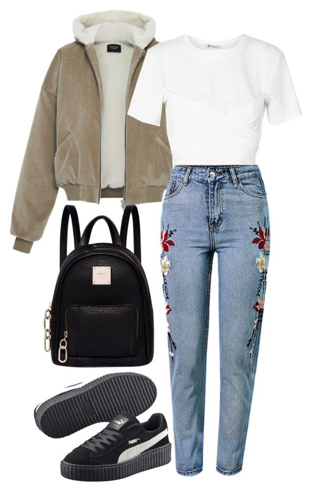 """Untitled #272"" by mimi-varte on Polyvore featuring T By Alexander Wang, WithChic, Puma and Fiorelli"