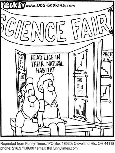 science cartoons funny lice head cartoon education humor april natural week comic hunters 2007 something jokes funnytimes specialist times nits