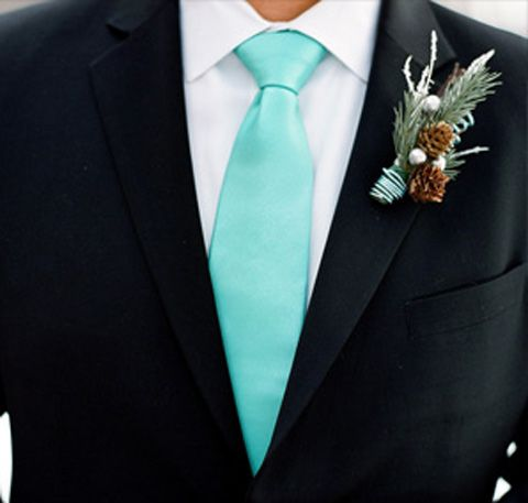 #Winter #wedding boutonniere for your #groom