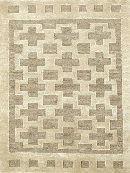 """Hand Knotted Beige Rug (3' 0"""""""" X 5' 0"""""""")"""