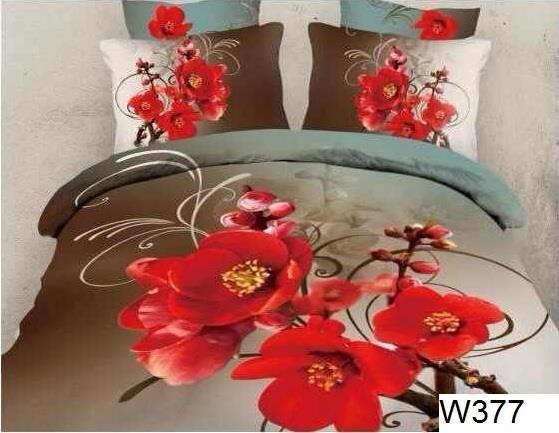 Ropa de cama con efecto 3D,algodon 100% , los colores se mantienen vivos durante todo tiempo, - funda nordica y funda de almohadas se cierra con cremalleras- 100% algodon, 4 piezas, cama matrimonio funda nordica 200x220 sabana 220x230 2 fundas 70x80