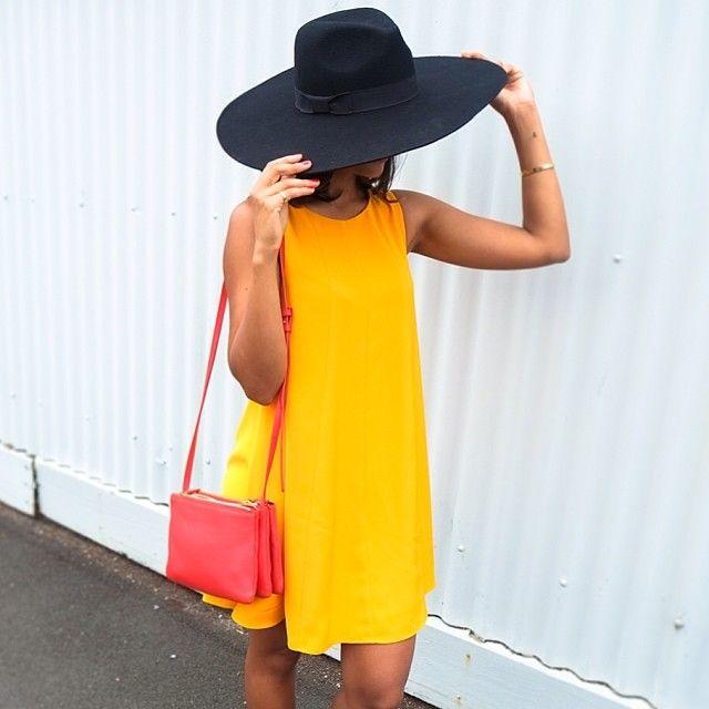 Everyday yellow dress