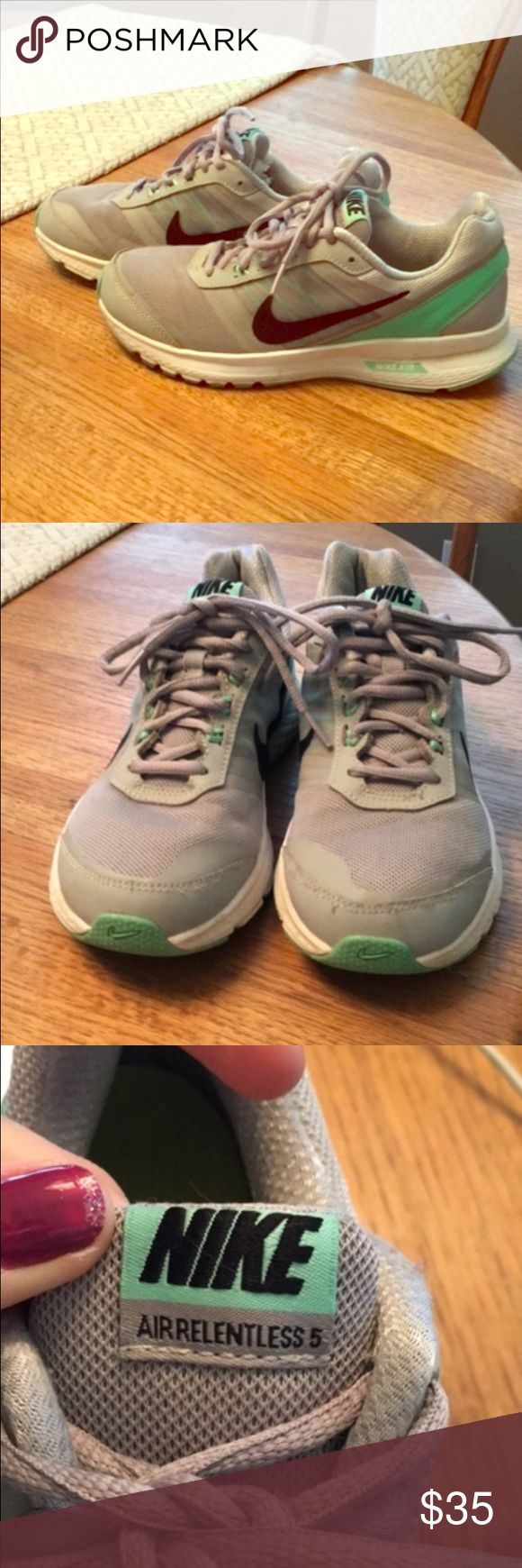 Nike Flex RN running shoe. Mint and Grey. Nike Flex RN running shoe. Mint and Grey. Some wear. Still look great. Nike Shoes Athletic Shoes