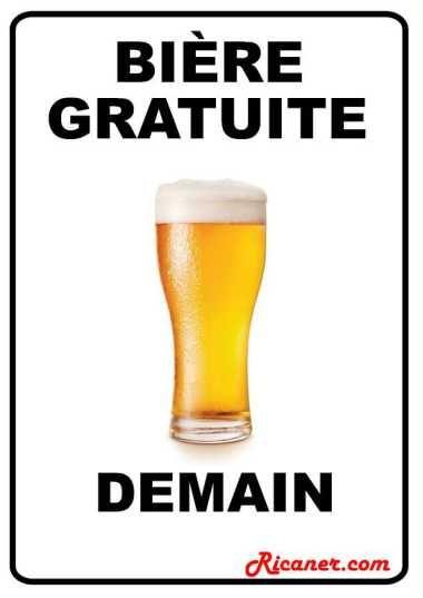 Affiche humour pour bar
