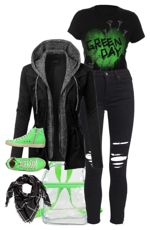 """""""Untitled #2757"""" by tapping-raven ❤ liked on Polyvore featuring Hot Topic, Menu, Eastsport, AMIRI, LE3NO, H&M and LEATHER CROWN"""