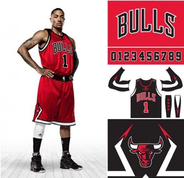 Chicago Bulls Uniform and Logo Rebrand Concept  espn  espn  branding ... c4339c0cd