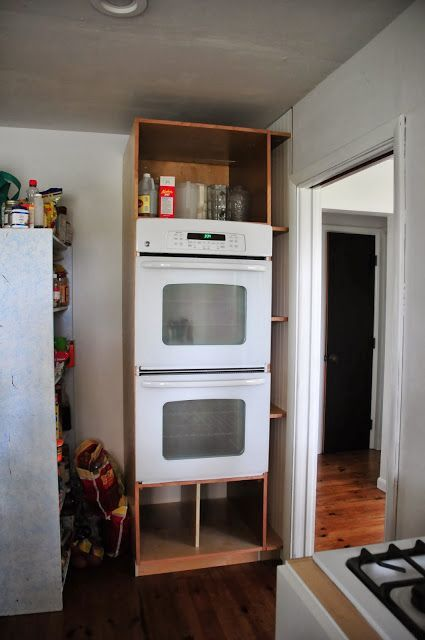 Our Diy Double Oven Cabinet Plum Tree Place