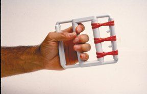 Price:    The Cando Hand Exerciser is ideal for finger flexion exercises. Vary resistance by increasing or decreasing the number of rubber bands, or by changing to a different color-coded set of bands. Range-of-motion may be decreased by using the flexion limiter (This listing is for CanDo...