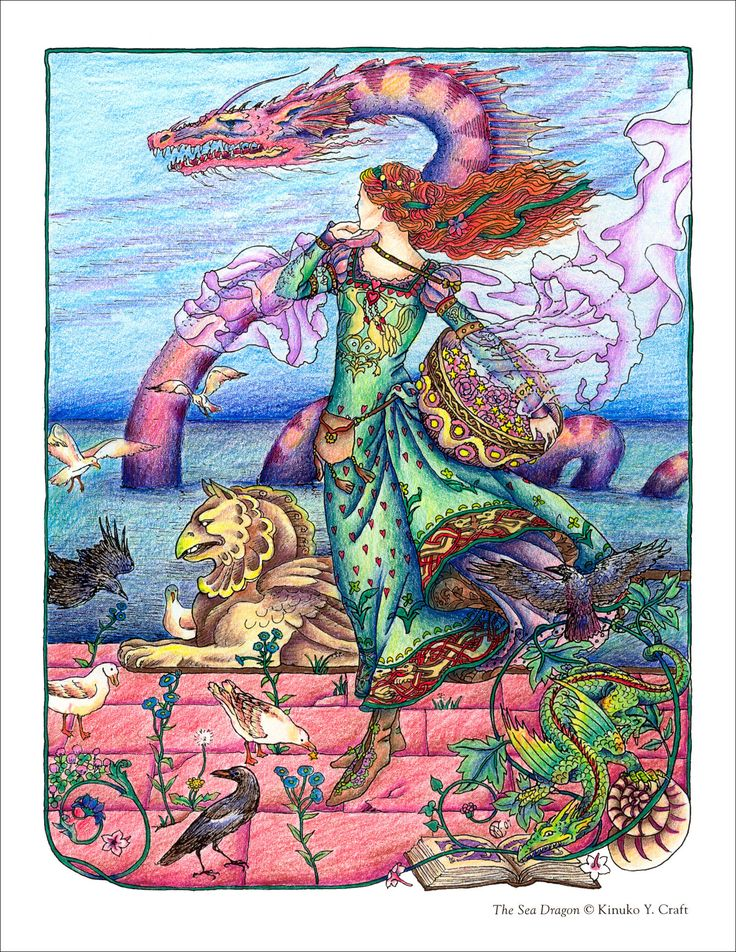 Myth Magic Coloring Book