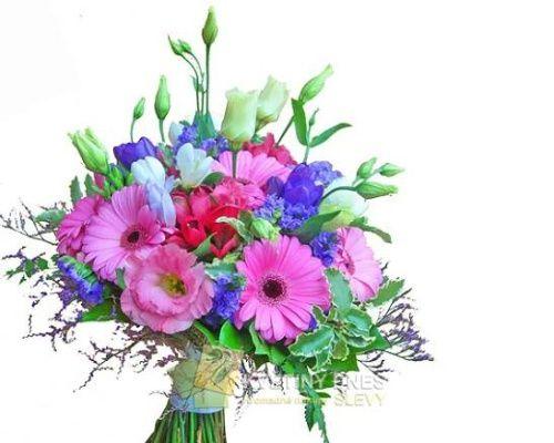 Svatební kytice 151 Květiny online - květinářství Praha Pankrác - netradiční kytice, dárky pro muže, dárkové koše, ovocné