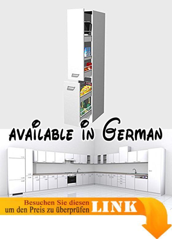 B01INHO4ZI : Apothekerschrank Für Die Küche 30 Cm Breit WEIß   Witus. Front  Weiß /