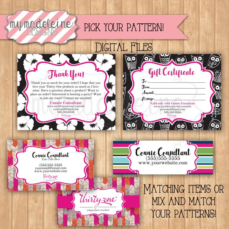 Thirty One Business Package Thirty one Business Card Thirty One Gift Certificate Thank You Card Catalog Lab Fall Winter 2016 Patterns by MyMadeleine on Etsy