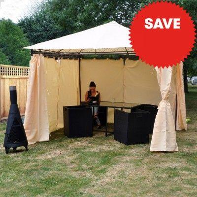 Kingfisher Heavy Duty Gazebo with Side Curtains | JTF