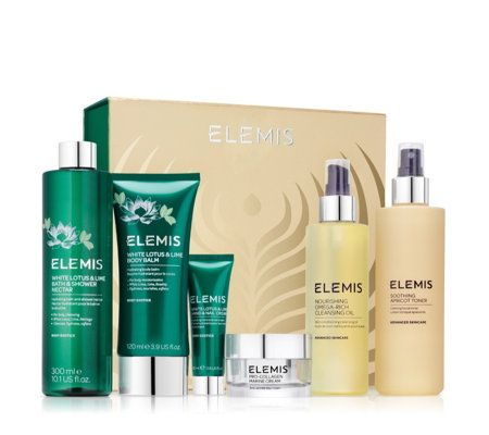 QVCUK TSV (PreOrder) Offer available until midnight 13/11/16... 228618 Elemis 6 Piece The Gift Of Great Skin Face & Body Collection QVC Price:£72.00 - RRP: £140.00 £42.96 + P&P: £5.95 or 4 Easy Pays of £10.74 +P&P in 2 fragrance options inc Nu launch of white lotus & lime The six-piece Gift of Great Skin Collection from Elemis comprises the brand new Bath & Shower Nectar & the new Body Balm, plus Hand & Nail Cream,  in a choice of 2 fragrances - classic Frangipani Monoi or Wht Lotus &Lime