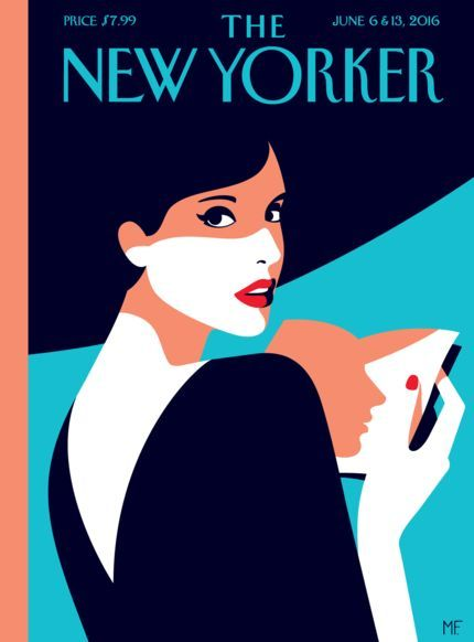 Malika Favre  - tiphaine-illustration. The New Yorker illustration makes a fabulous cover design.