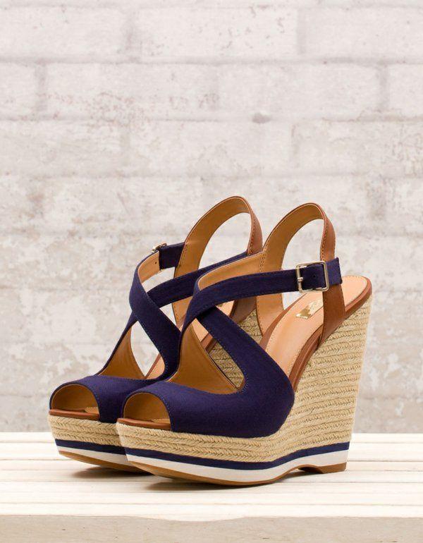 Hohe Wedges Schuhe Keilabsatz Schuhe Mit Absatz Sandalen Zapatos